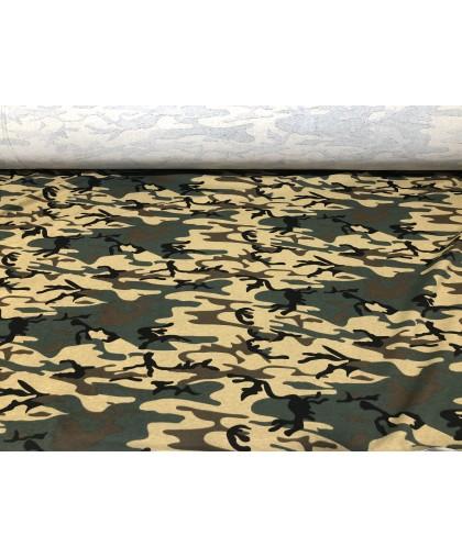 Ткань трикотаж двунитка камуфляж(турция)ширина 1,8м песочный цвет