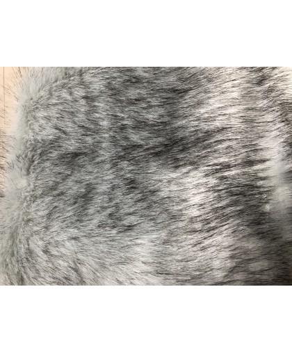 Мех искусственный Песец светло серый(длинна ворса 7см) Китай (метр )ширина 1,8м