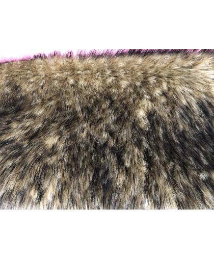 Мех искусственный Енот коричневый Китай ширина 1,8м ворс 5,5см
