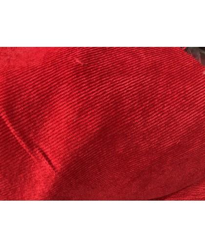 Ткань микровельвет красный