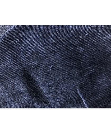 Ткань микровельвет синий