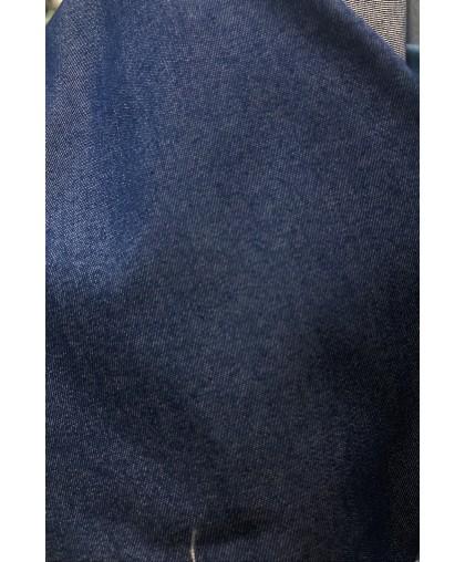 Ткань джинс тонкий темно синий