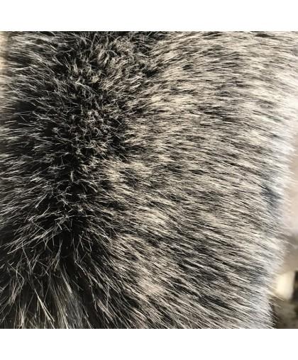 Мех искусственный для опушки и бубонов (ЧБК) ворс 6см Китай(м.п.)