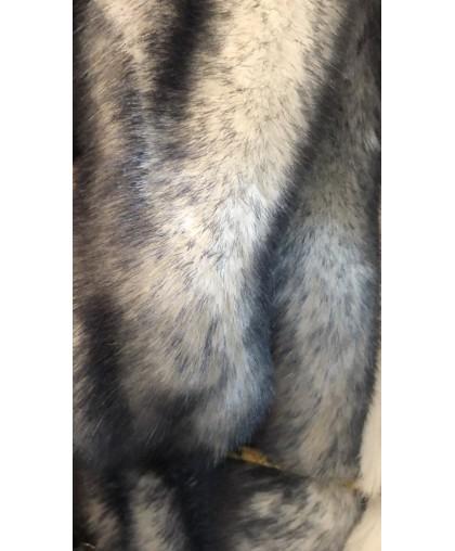 Мех искусственный Кролик серые кончики (м.п.)