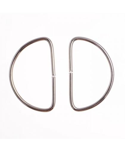 Полукольцо металл 1,5 см (100 штук)