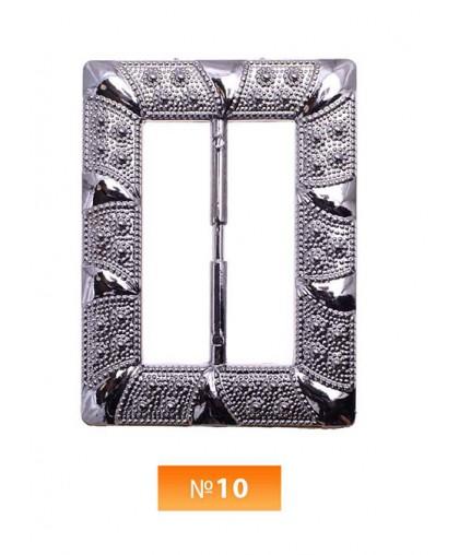 Пряжка пластиовая №10 блек никель 4 см (100 штук)