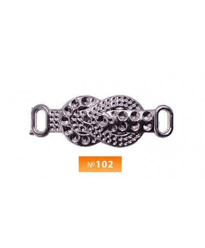 Пряжка пластиовая №102 блек никель  (100 штук)