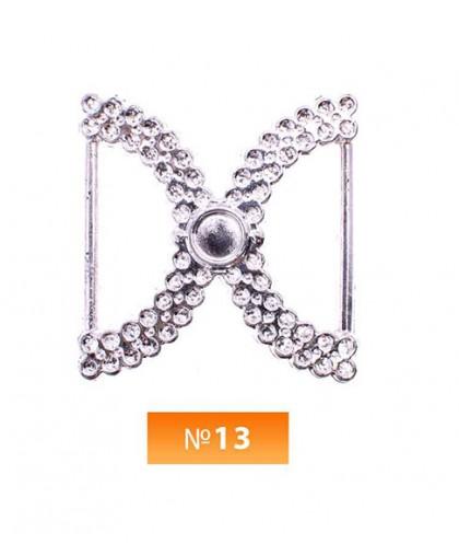 Пряжка пластиовая №13 никель 2.5 см (100 штук)