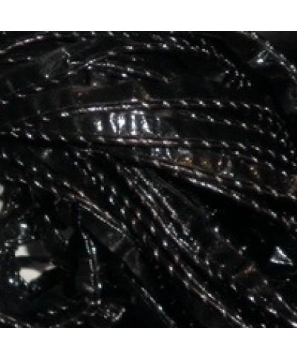 Кант лаковый кожезаменитель обшый серебром (30 метров)