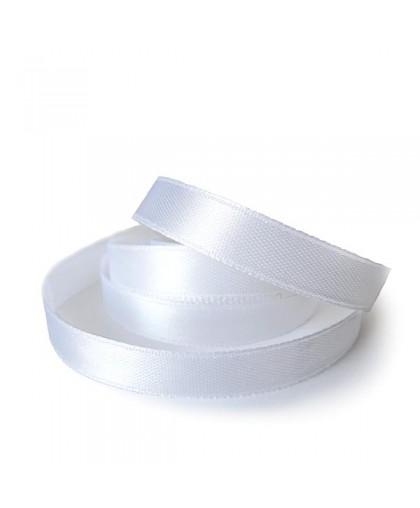 Тесьма атласна 25мм (36ярд) белая (6 штук)