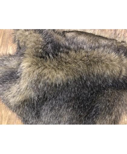 Мех искусственный Песец птичка серая (метр )