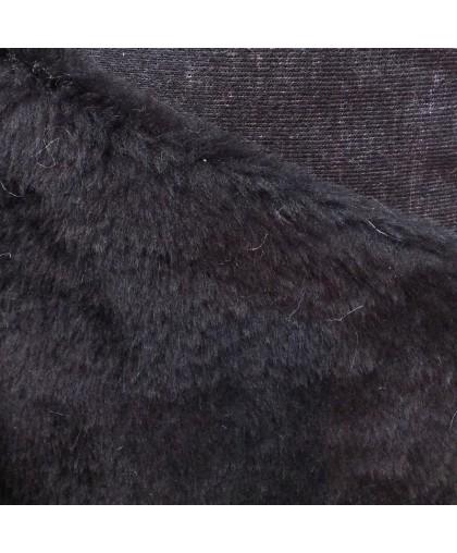 Мех искусственный для обуви подкладка черная (м.п.)
