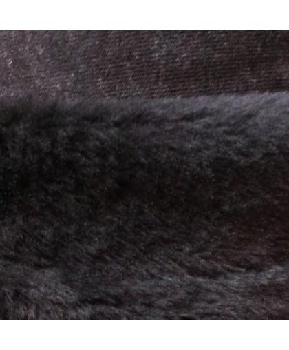 """Мех искусственный черный """"собака"""" (м.п.)"""