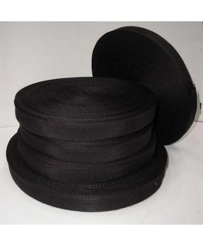 Тесьма ременная 5см черная (100 метров)