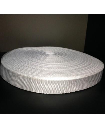 Тесьма ременная 900D 2,5см белый (100 метров)