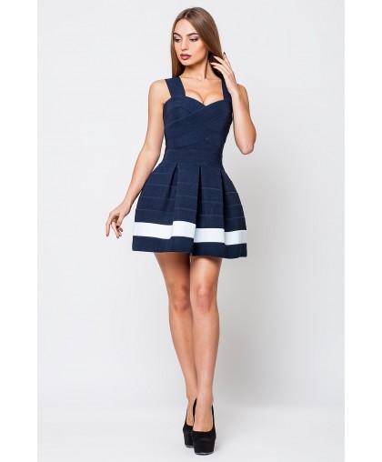 Платье женское Грация синий с 1 белой полосой PG008 (Штука)