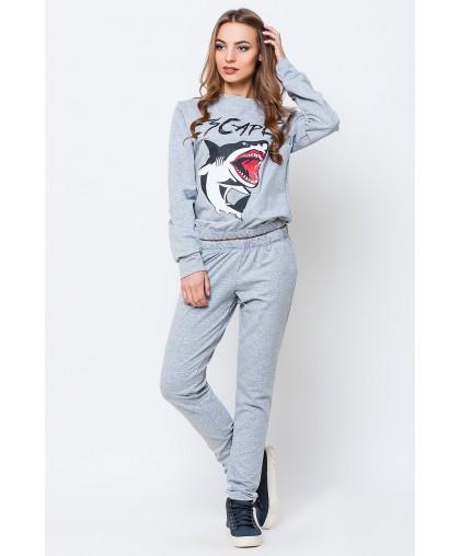 Спортивный костюм женский Акула серый SK145 (Штука)