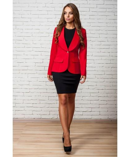 Пиджак женкский Жанна красный KJ070 (Штука)