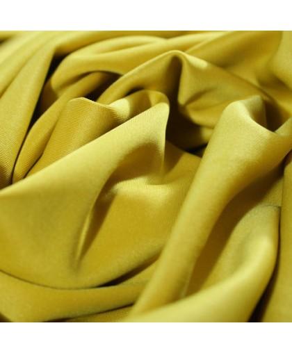 Ткань трикотаж дайвинг однотонный горчичный (метр )