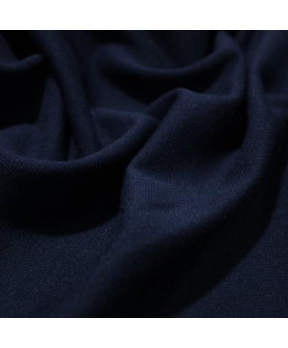 Ткань трикотаж джерси темно-синий (метр )