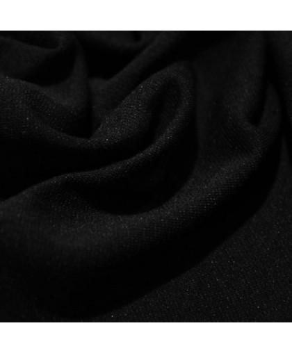Ткань трикотаж джерси черный (метр )