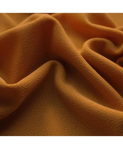 Ткань трикотаж креп оранжевый пастель (метр )