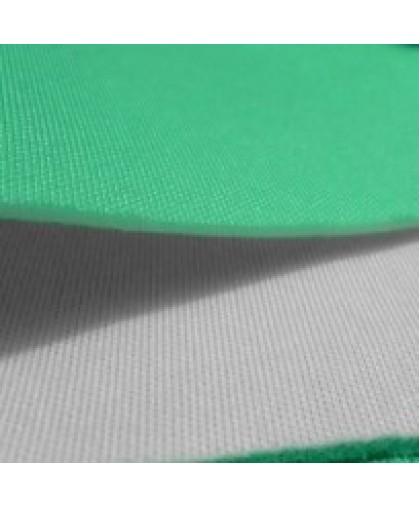 Ткань трикотаж неопрен двусторонний мята+белый (метр )