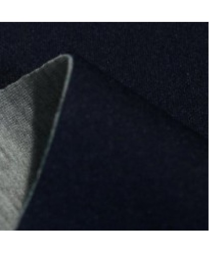 Ткань трикотаж неопрен двусторонний темно-синий+меланж (метр )