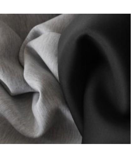 Ткань трикотаж неопрен двусторонний черный+меланж (метр )