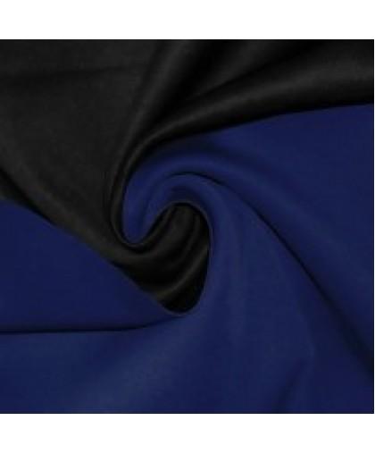Ткань трикотаж неопрен двусторонний черный+электрик (метр )