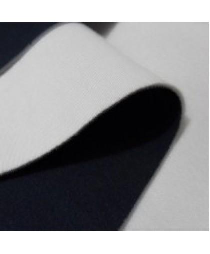 Ткань трикотаж неопрен темно-синий+белый (метр )