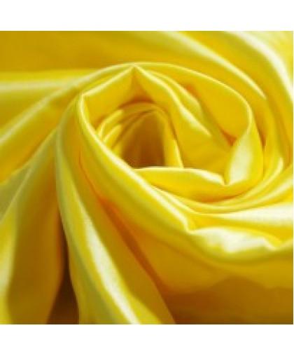Ткань атлас королевский стрейч желтый (метр )