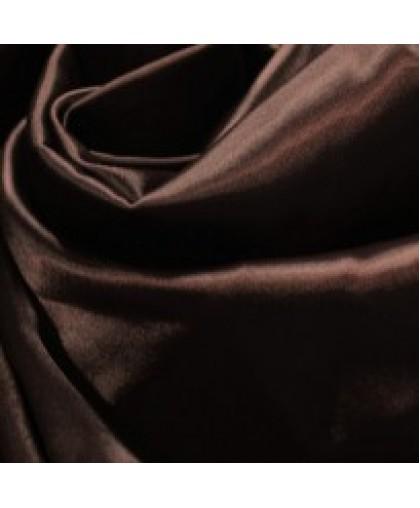 Ткань атлас королевский стрейч шоколадный (метр )