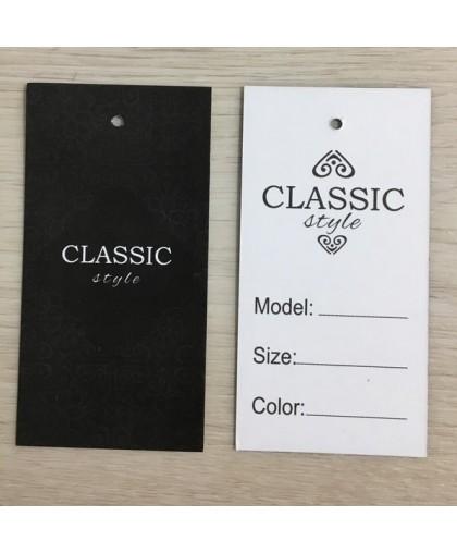 Этикетка картонная 5х10см Classik  (1000 штук)