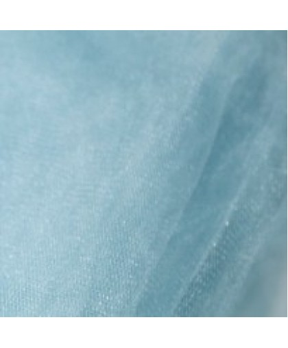 Ткань фатин средней жесткости голубой (метр )