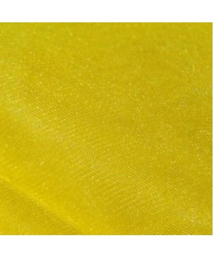 Ткань фатин средней жесткости желтый (метр )