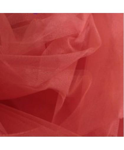 Ткань фатин средней жесткости коралл (метр )