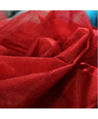 Ткань фатин средней жесткости красный (метр )