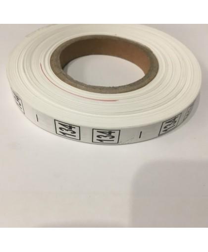 Размерная лента (накатка) 134 (1000 штук)