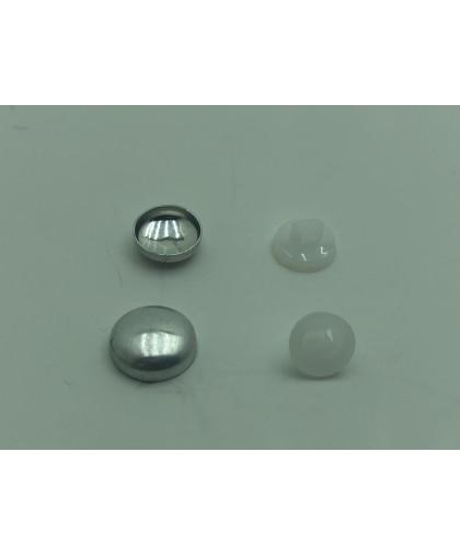 Пуговица под обтяжку №18 (10,7мм) (1000 штук)черный,белый