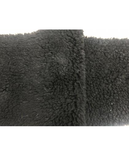 Мех искусственный ПШ барашек черный (м.п.)