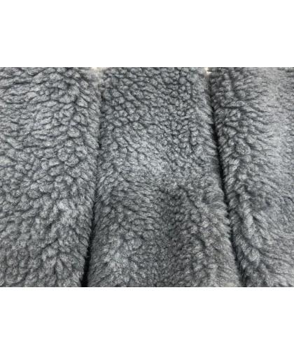 Мех искусственный ПШ барашек серый (м.п.)